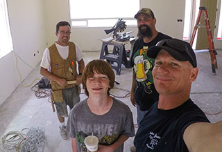 The Capps Construction team at work on another custom home